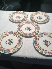 Five Wedgewood Bone China 7.5 Inch Salad/desert Plate Vintage Pattern X9962