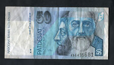 C2000 Bank of Slovakia 50 Koruna Bank Note: K56495681