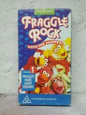 """Jim Henson Fraggle Rock With the Muppets """" VOLUME 1 """" VHS Meet the Fraggles RARE"""