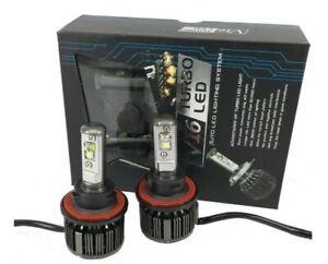 Kit H1 ampoule LED V16 Turbo Ventilé 80W Puissance 8000 Lumens Phares 6000K Auto