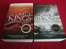 GEORGE R.R. MARTIN - A GAME OF THRONES + A CLASH OF KINGS - 2 PB BOOKS