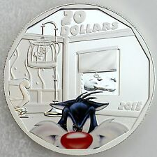 Canada 2015 $20 Sylvester Cat Looney Tunes1 oz. 99.99% Pure Silver Color Proof