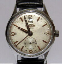 VINTAGE*ROAMER-POINTER DATA*17JEWELS MECHANICAL SWISS MEN'S WATCH*SERVICED*# 57A