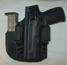 CUSTOM Kydex LEFT HAND IWB Holster with extra Mag Carrier for S&W SD9/40VE