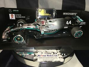 1:18 MINICHAMPS #110191844 Lewis Hamilton Mercedes W10 USA Gp 2019- Mundo Champ