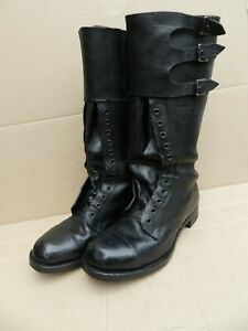 WW2 PATTERN GENUINE DISPATCH RIDERS BOOTS sz 6  IN SUPERB CONDITION.