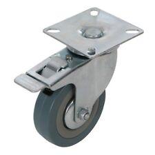 Roulette pivotante caoutchouc à frein - 75 mm 50 kg