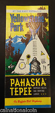 Yellowstone Park East Entrance Pahaska Tepee Vintage Brochure