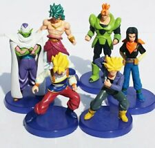 6 unids/lote Dragon Ball Z Figura goku $ number de Juguete Broli Piccolo Trunks