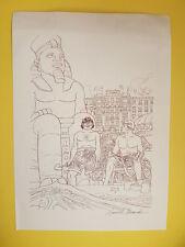 "Alessandrini, Giancarlo -A-rara litografia firmata ""Martin Mystére-Java"" inedita"