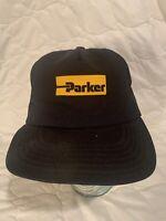 Vtg 80s Mesh Parker Power Tools SnapBack Trucker Hat Cap USA Hudson OSFA