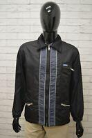 Giacca REPLAY Uomo Taglia Size M Giubbino Giubbotto Coat Jacket Man Nero Blu Zip