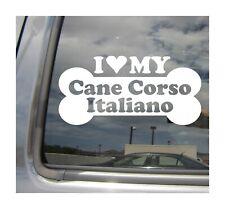 I Heart Love My Cane Corso Italiano - Dog Bone Car Vinyl Decal Sticker 13250