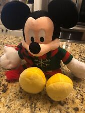 "Disney Store HOLIDAY CHRISTMAS MICKEY MOUSE 18"" Plush Stuffed Animal NEW W/tags"
