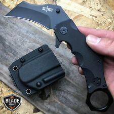 "7.5"" TACTICAL COMBAT KARAMBIT OPEN FOLDING POCKET KNIFE + QUICK RELEASE SHEATH"
