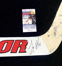 Jimmy Howard Signed Detroit Red Wings Game Used Stick JSA COA