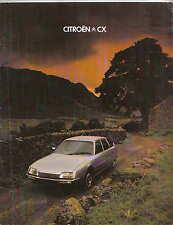 Citroen CX 2000 2400 Pallas GTi Prestige Safari Familiale 1978-79 UK Brochure