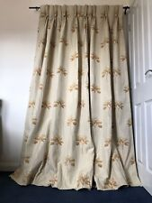 """Single Light Beige Embroidered Chenille Door Curtain 45""""W/84.5""""L"""