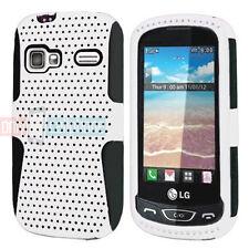 LG Rumor Reflex Xpression Converse LN272 C395 White on Black Hybrid Case Cover