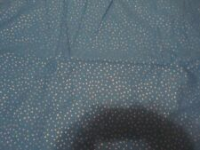 2 Yards Blue with Silver Polka Dot Glitter Cotton Fabric