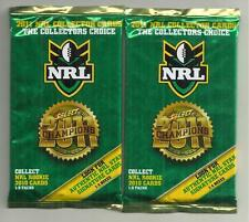 3 X 2011 SELECT CHAMPIONS  NRL RUGBY LEAGUE CARDS UNOPENED PACKETS  SIGNATURE ??