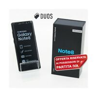 SMARTPHONE SAMSUNG GALAXY NOTE 8 DUOS MIDNIGHT BLACK 64GB DUAL SIM PER P.IVA-