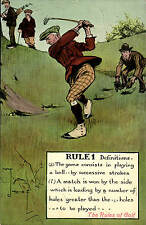 Golf Comic by Valentine's. Rules of Golf. Rule 1 by Chas Crombie. Definitions.