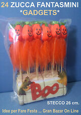 HALLOWEEN ZUCCA FANTASMA SPILLONE BOO 24 Pz BABY FESTA GADGETS PARTY HORROR