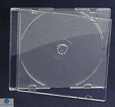 200 Single CD Jewel Cover Slim 5.2mm Frosted Clear Blank New Replacement HQ AAA