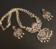Ethnic Oxidized Silver Necklace And Ear Rings Jewelry-USA Seller Free Shipping