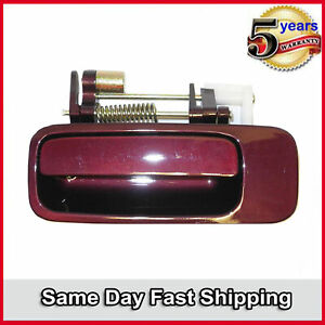 Outside Door Handle Rear Left For 1997-2001 Toyota Camry Ruby Red 3L3