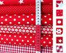 Baumwollstoffe Feuerrot Rot Stoffe Punkte Sterne Karo Streifen Popeline ab 25 cm