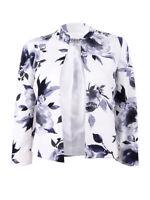 Kasper Women's Floral-Print Flyaway Jacket