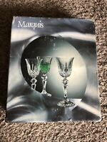 SET OF (6) MARQUIS BY BOHEMIA CRYSTAL WINE GLASSES