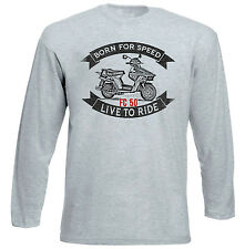 HONDA BEAT FC 50 - NEW  GREY LONG SLEEVED TSHIRT- ALL SIZES IN STOCK
