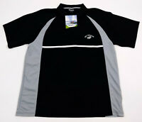New Zealand All Blacks Cups Sports Men's Large Polo Shirt Black S/S Rugby New
