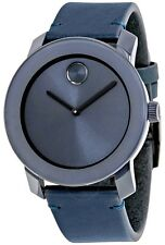Movado Bold Leather Mens Watch 3600370