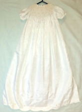 Christening / Baptism dress (smocked bodice and embroidered detail)