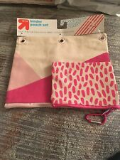 Nwt Up & Up Binder Pouch Set pink
