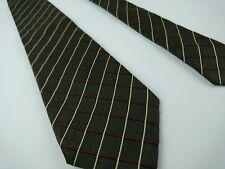 Luciano Barbera Tie Plaid Brown 100% Silk Italy W 3.75 L 58.75