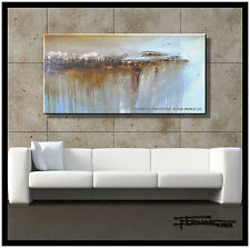 ABSTRACT PAINTING Modern CANVAS WALL ART LARGE USA FRAMED Signed ELOISExxx