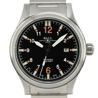 Auth BALL Stokeman NM1090C Black Dial Date Automatic Men's Watch K#87330