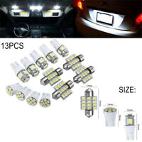 13x White LED Package Interior For Dome Map License Lights T10 & 31mm Bulb Lamp