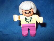 LEGO DUPLO PUPPENHAUS OMA PINK / BEIGE aus Nr. 2783 NEU FIGUR FRAU WOW SELTEN