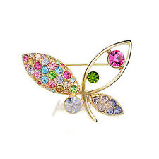Spilla da Donna Cristallo SwarovskiI Elements Farfalla Multicolore SP65