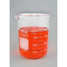 G-1629  250 ml Corning Pyrex Beaker, Spout Made in Germany. Heat resistant.