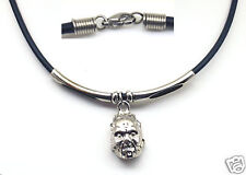 """Rugged Necklace, Rubber 2.5 mm Cord Lobster Clasp 17"""""""