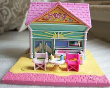 Vintage Polly Pocket Beach Cafe complete set w dolls Bluebird Toys