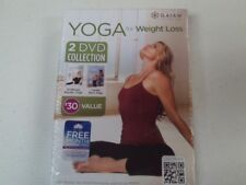 Gaiam YOGA For Weight Loss 2 DVD Set 15 Minute Results & Cardio Burn New e15