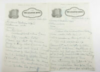 1934 Lamson Goodnow The Atlantan Hotel Atlanta GA Notes Ephemera P855F